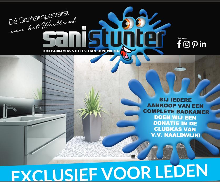 Sanistunter Naaldwijk nieuwe sponsor bij vv Naaldwijk