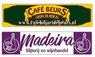 Café de Beurs en Slijterij Madeira kleden vv Naaldwijk selectie begeleiding aan