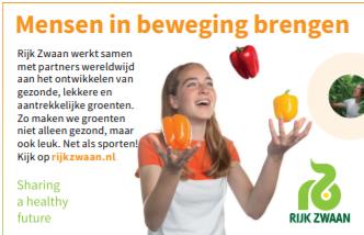 Rijk Zwaan verlengt sponsorovereenkomst als Hoofdsponsor jeugdtoernooien en sponsort vv Naaldwijk 2021 open dag en Regio cup