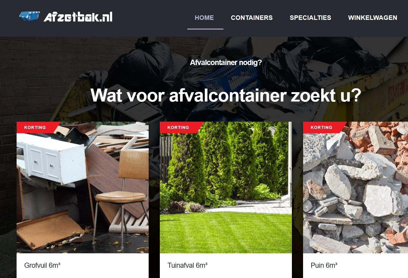 MHSales – Afzetbak.nl – Rolcontainerservice.nl nieuwe sponsor bij vv Naaldwijk