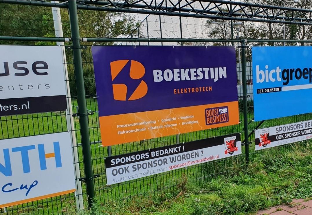 Boekestijn Elektrotech nieuwe sponsor vv Naaldwijk