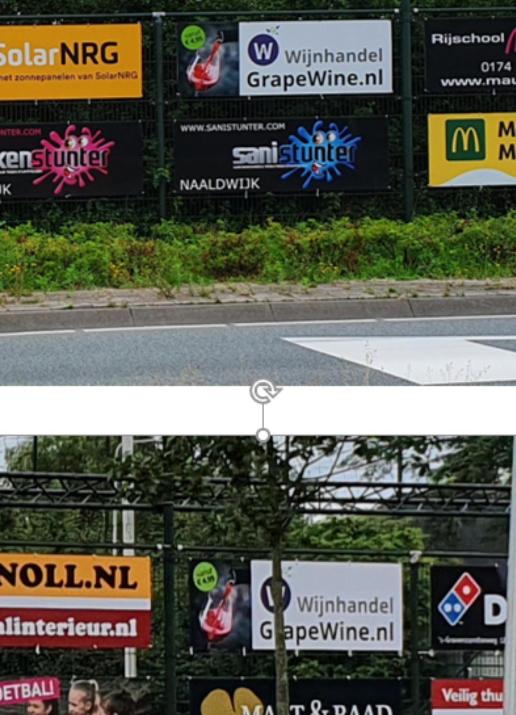 Grapewine breidt sponsoring bij vv Naaldwijk uit met 2e bord aan de rotonde